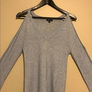 NWOT Beautiful Baby Blue Cold Shoulder Sweater